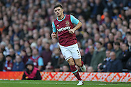 Aaron Cresswell of West Ham United looks on. The Emirates FA cup, 3rd round match, West Ham Utd v Wolverhampton Wanderers at the Boleyn Ground, Upton Park  in London on Saturday 9th January 2016.<br /> pic by John Patrick Fletcher, Andrew Orchard sports photography.