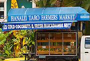 Taro Farmers Market in the town of Hanalei, Island of Kauai, Hawaii