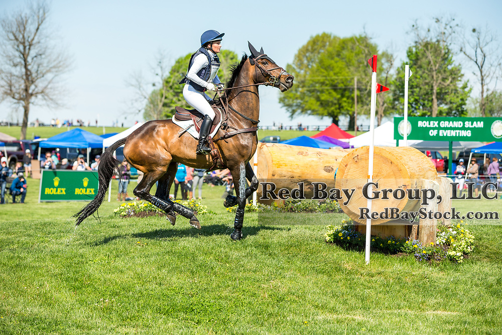 Hannah Sue Burnett (USA) and Harbour Pilot during the cross-country at the 2019 Land Rover Kentucky Three-Day Event presented by MARS EQUESTRIAN in Lexington, Kentucky