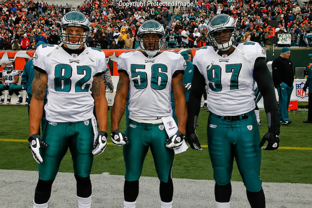 16 Nov 2008: Philadelphia Eagles captains pose for a picture before the game against the Cincinnati Bengals on November 16th, 2008. The game ended in a tie 13-13 at Paul Brown Stadium in Cincinnati Ohio.