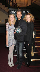 ANDREW CASTLE and his wife SOPHIA with their daughter CLAUDIA at the Cirque du Soleil's gala premier of Quidam held at the Royal Albert Hall, London on 6th January 2009.