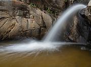 A water chute along Romero Creek, Romero Canyon