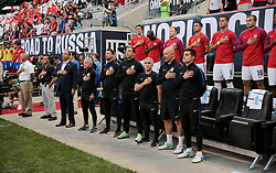 September 1, 2017 - Harrison, NJ, USA - Harrison, N.J. - Friday September 01, 2017:   USMNT bench during a 2017 FIFA World Cup Qualifying (WCQ) round match between the men's national teams of the United States (USA) and Costa Rica (CRC) at Red Bull Arena. (Credit Image: © John Dorton/ISIPhotos via ZUMA Wire)