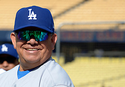 June 10, 2017 - Los Angeles, California, U.S. - Former Los Angeles Dodger pitcher Fernando Valenzuela during the Old Timers game prior to a Major League baseball game between the Cincinnati Reds and the Los Angeles Dodgers at Dodger Stadium on Saturday, June 10, 2017 in Los Angeles. (Photo by Keith Birmingham, Pasadena Star-News/SCNG) (Credit Image: © San Gabriel Valley Tribune via ZUMA Wire)