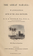 Marabout of Berryan vignette on title page From the Book ' Great Sahara: wanderings south of the Atlas Mountains. ' by Tristram, H. B. (Henry Baker),  Published by J. Murray in London in 1860