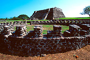 MEXICO, GULF CULTURES, TOTONAC Zempoala; Totonac site, 1000-1500AD The Chimneys Pyramid; first Indian allies of Cortes; N of Veracruz