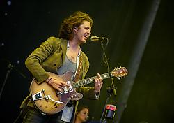 ©London News Pictures. Glastonbury Festival 2015<br /> <br /> HOZIER perform on Pyramid stage on Sunday during Glastonbury Festival 2015, Worthy Farm, Pilton.<br /> <br /> Date: 28/06/2015<br /> Photographer: Artur Lesniak /LNP
