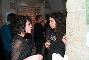 HANNAH WILTSHIRE; MARNIE HOLLAND, , The launch party of HiBrow and A Mighty Big If. ÊThe Crypt. St. Martins in the Fields. London. 24 January 2012<br /> HANNAH WILTSHIRE; MARNIE HOLLAND, , The launch party of HiBrow and A Mighty Big If.  The Crypt. St. Martins in the Fields. London. 24 January 2012