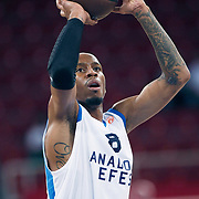 Anadolu Efes's Terence KINSEY during their Two Nations Cup basketball match Anadolu Efes between Olympiacos at Abdi Ipekci Arena in Istanbul Turkey on Sunday 02 October 2011. Photo by TURKPIX