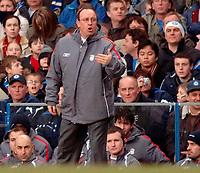 Photo: Daniel Hambury.<br />Chelsea v Liverpool. The Barclays Premiership. 05/02/2006.<br />Liverpool's manager Rafael Benitez.