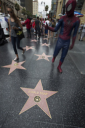 July 9, 2015 - Los Angeles, California, U.S - Donald Trump's star on the Hollywood Walk of Fame is seen on July 9, 2015 in Los Angeles, California. (Credit Image: © Ringo Chiu/ZUMA Wire)