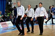 DESCRIZIONE : Final Eight Coppa Italia 2015 Desio Quarti di Finale Dinamo Banco di Sardegna Sassari - Vanoli Cremona<br /> GIOCATORE : Arbitro Luigi Lamonica Gianluca Sardella Emanuele Aronne<br /> CATEGORIA : arbitro<br /> SQUADRA : arbitro<br /> EVENTO : Final Eight Coppa Italia 2015 Desio<br /> GARA : Dinamo Banco di Sardegna Sassari - Vanoli Cremona<br /> DATA : 20/02/2015<br /> SPORT : Pallacanestro <br /> AUTORE : Agenzia Ciamillo-Castoria/Max.Ceretti