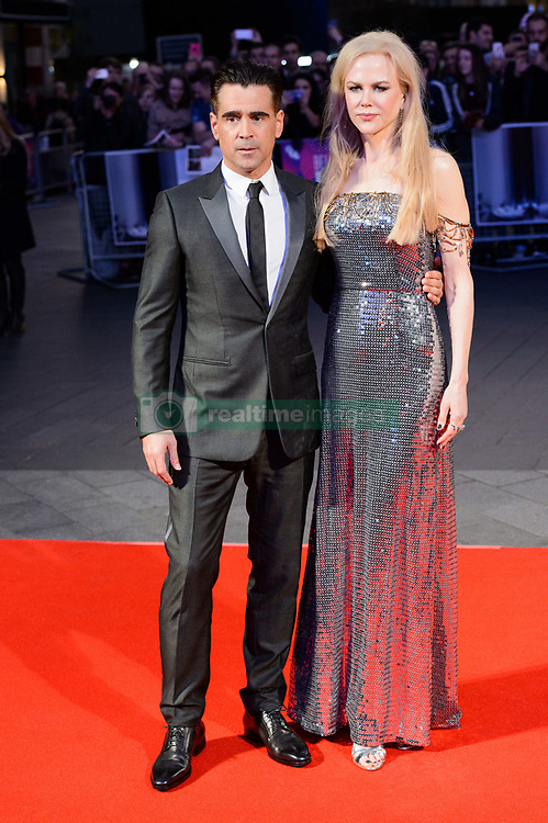 October 12, 2017 - London, London, UK - Colin Farrell and Nicole Kidman attends the UK film premiere of Killing Of A Sacred Deer showing as part of the 51st BFI London Film Festival. (Credit Image: © Ray Tang via ZUMA Press)