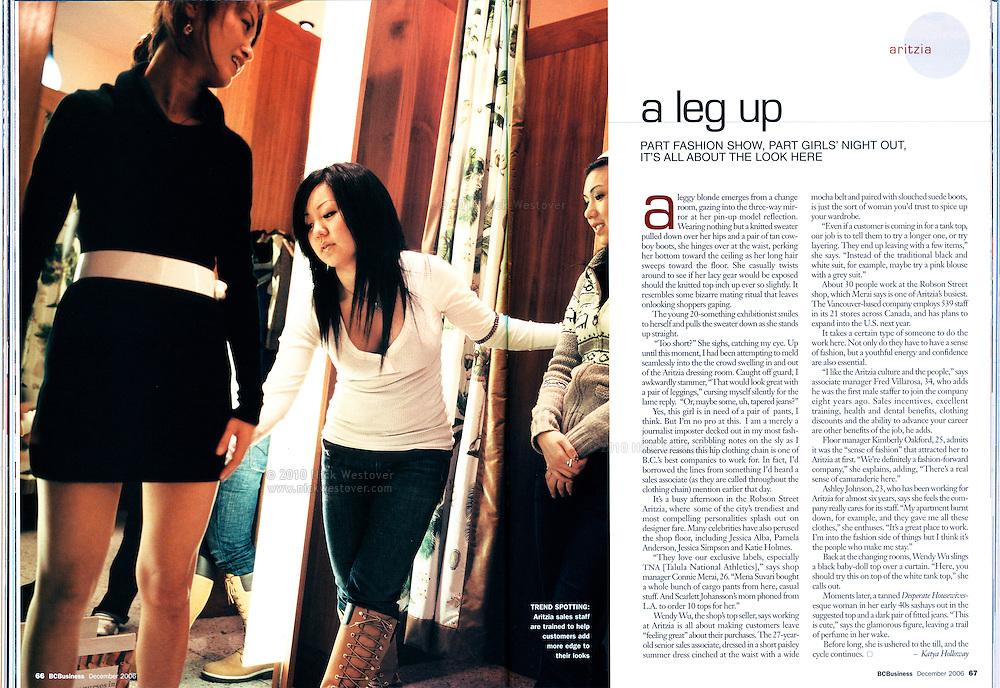 Aritzia for BC Business magazine