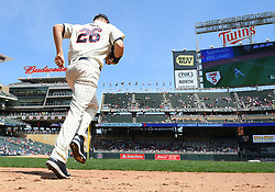 May 2, 2018 - Minneapolis, MN, U.S. - MINNEAPOLIS, MN - MAY 02: Minnesota Twins Outfield Max Kepler (26) takes the field during a MLB game between the Minnesota Twins and Toronto Blue Jays on May 2, 2018 at Target Field in Minneapolis, MN.The Twins defeated the Blue Jays 4-0.(Photo by Nick Wosika/Icon Sportswire) (Credit Image: © Nick Wosika/Icon SMI via ZUMA Press)
