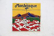 Ceramic tiles picture village of Montejaque, Serrania de Ronda, Malaga province, Spain