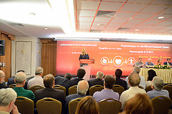 June 14, 2017 - Athens, Attiki, Greece - Foffi Gennimata leader of Greek political party Democratic Allignement gives a speech in Athens about healthcare. (Credit Image: © George Panagakis/Pacific Press via ZUMA Wire)