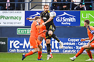 AFC Wimbledon Forward James Hanson (18) in action during the EFL Sky Bet League 1 match between Luton Town and AFC Wimbledon at Kenilworth Road, Luton, England on 23 April 2019.