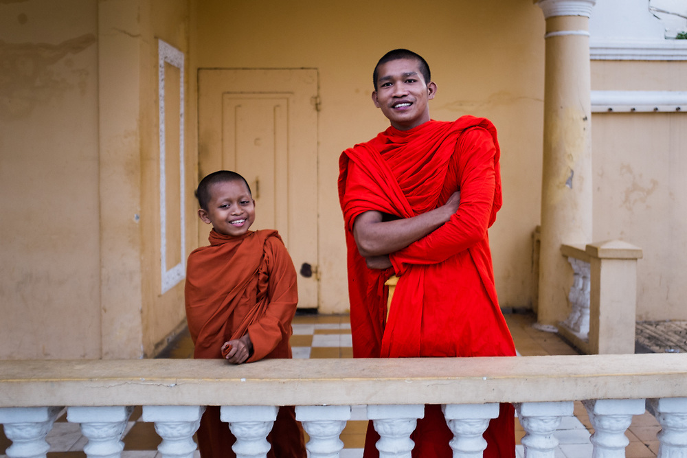Buddhist monks in Cambodia live in wats, traditional buiding complex were they have residences, a hall for eating and for the classes, and the temple for pray and meditate. They live a regulated lifestyle with more than than 200 rules to observe. <br /> Photo by Lorenz Berna