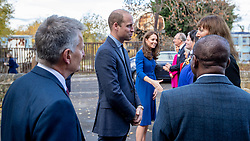 The Duke and Duchess of Cambridge arrive at Centrepoint in Barnsley.