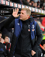 AFC Bournemouth manager Eddie Howe waves at the fans before the Premier League match between Bournemouth and West Ham United at the Vitality Stadium, Bournemouth, England on 19 January 2019.
