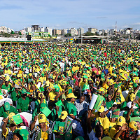 Dar Es Salaam, Tanzania 30 October 201<br /> Tanzanian partisans of CCM party gathered in a political rally before the presidential elections. <br /> The European Union has launched an Election Observation Mission in Tanzania to monitor the general elections, responding to the Tanzanian government invitation to send observers for all aspects of the electoral process.<br /> The EU sent this observation mission led by Chief Observer David Martin, a member of the European Parliament. <br /> PHOTO: EZEQUIEL SCAGNETTI