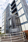 Modern office block building in town centre, Milford House, Swindon, Wiltshire, England, UK