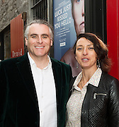"""Paul Fahy Artistic Director GIAFand Varavara Shavrova at the World Premiere of the """"Luck Just Kissed you Hello""""by Amy Conroy in the Mick Lally theatre (Druid) on the opening night of Galway international Arts Festival. Photo:andrew Downes xposure"""