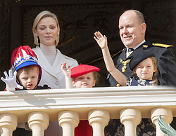 November 19, 2019, Monaco, Monaco: 19-11-2019 Monte Carlo Prince Jacques and Princess Gabriella and Prince Albert II of Monaco and Princess Charlene and Kaya Rose Wittstock during the Monaco national day celebrations in Monaco. (Credit Image: © face to face via ZUMA Press)