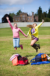 Courtney Munro and Lydia Dood. The opening of the T in the Park 2015 campsite for the very first year at its new home at Strathallan Castle.