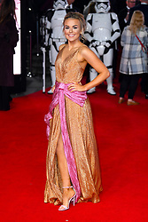 Tallia Storm attending the european premiere of Star Wars: The Last Jedi held at The Royal Albert Hall, London. Photo credit should read: Doug Peters/EMPICS Entertainment