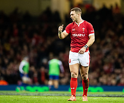 George North of Wales<br /> <br /> Photographer Simon King/Replay Images<br /> <br /> Six Nations Round 1 - Wales v Italy - Saturday 1st February 2020 - Principality Stadium - Cardiff<br /> <br /> World Copyright © Replay Images . All rights reserved. info@replayimages.co.uk - http://replayimages.co.uk