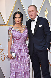 Salma Hayek and Francois-Henri Pinault walking the red carpet as arriving for the 90th annual Academy Awards (Oscars) held at the Dolby Theatre in Los Angeles, CA, USA, on March 4, 2018. Photo by Lionel Hahn/ABACAPRESS.COM