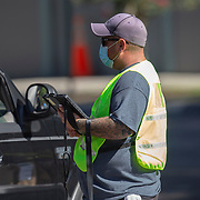 Orange County government provided free drive-thru Coronavirus (Covid-19) testing  at the Econ Soccer Complex on Monday, July 27, 2020 in Orlando, Florida. The state total for positive COVID-19 cases now stands at 432,747 while the death toll for Florida residents climbed to 5,931. The state has also seen 118 fatalities of non-Florida residents.(Alex Menendez via AP)