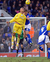 Photo: Ashley Pickering.<br />Ipswich Town v Sheffield Wednesday. Coca Cola Championship. 11/11/2006.<br />Ipswich's Alex Bruce (blue) and Sheffield's Marcus Tudgay