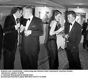 William Cash, Conrad Black,  Louisa King and  Mathew Doull. Duckworth Centenary Dinner. Dorchester, London 14/10/98<br />© Copyright Photograph by Dafydd Jones<br />66 Stockwell Park Rd. London SW9 0DA<br />Tel 0171 733 0108