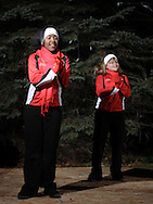 Pine Bush, NY -  Members of the Dance Diamonds perform at the Pine Bush Festival of Lights holiday celebration on the evening of Dec. 1, 2008.