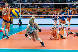 19-10-2018 JPN: Semi Final World Championship Volleyball Women day 20, Yokohama<br /> Serbia - Netherlands / Kirsten Knip #1 of Netherlands