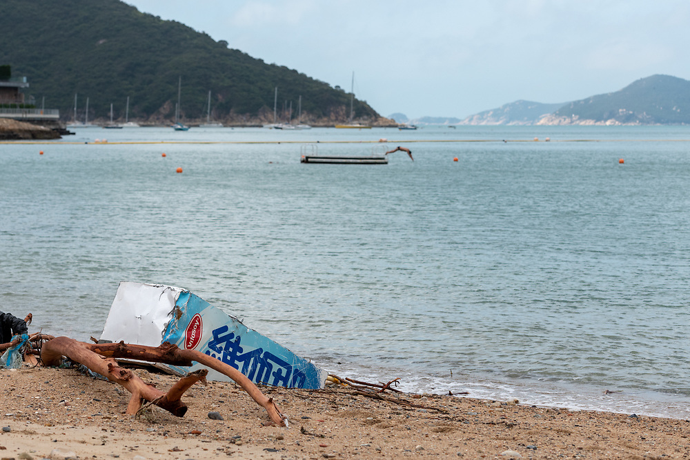 These images were taken between South Bay and Deepwater Bay on Hong Kong Island after Typhoon Mangkhut.  September 2018