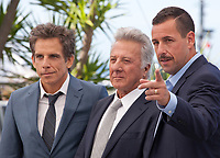 Ben Stiller, Dustin Hoffman and Adam Sandler at the The Meyerowitz Stories film photo call at the 70th Cannes Film Festival Sunday 21st May 2017, Cannes, France. Photo credit: Doreen Kennedy