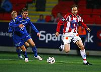 Fotball<br /> Tippeligaen 2008<br /> Tromsø v Molde<br /> 18.10.2008<br /> Foto: Tom Benjaminsen, Digitalsport<br /> <br /> Sigurd Rushfeldt, Tromsø<br /> Christian Steen, Molde