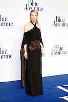 Cate Blanchett, Blue Jasmine UK film premiere, Odeon West End cinema Leicester Square, London UK, 17 September 2013, Photo by Richard Goldschmidt