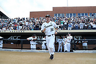 WINSTON-SALEM, NC - JUNE 02: Wake Forest's Parker Dunshee. The Wake Forest Demon Deacons hosted the University of Maryland Baltimore County Retrievers on June 2, 2017, at David F. Couch Ballpark in Winston-Salem, NC in NCAA Division I College Baseball Tournament Winston-Salem Regional Game 2. Wake Forest won the game 11-3.