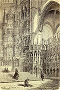 Intérieur de la Cathédrale de Tolède Page [Interior of the Cathedral of Toledo] illustration from the book 'Spain' [L'Espagne] by Davillier, Jean Charles, barón, 1823-1883; Doré, Gustave, 1832-1883; Published in Paris, France by Libreria Hachette, in 1874