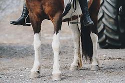 THEMENBILD - Pferdehufe, Pferdefüße und die Reitstiefel von einem Reiter im Detail, aufgenommen am 01. Mai 2020 in Kaprun, Oesterreich // Horse hooves, horse feet and the riding boots of a rider in detail in Kaprun, Austria on 2020/05/01, Kaprun, Austria. EXPA Pictures © 2020, PhotoCredit: EXPA/ Stefanie Oberhauser