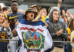 Sep 8, 2018; Morgantown, WV, USA; West Virginia Mountaineers students cheer after a touchdown during the first quarter against the Youngstown State Penguins at Mountaineer Field at Milan Puskar Stadium. Mandatory Credit: Ben Queen-USA TODAY Sports