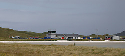 Barra Airport is a short-runway airport situated in the wide shallow bay of Traigh Mhòr at the north tip of the island of Barra in the Outer Hebrides, Scotland. Barra is now the only beach airport anywhere in the world to be used for scheduled airline services.(c) Stephen Lawson   Edinburgh Elite media