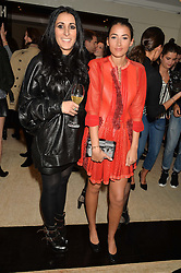 Left to right, SERENA REES and CORA CORRE at the Louis Vuitton for Unicef Event #MAKEAPROMISE held at The Apartment, 17-20 New Bond Street, London on 14th January 2016.