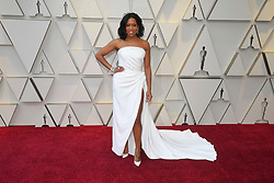 February 24, 2019 - Los Angeles, California, U.S - REGINA KING, wearing a white Oscar de la Renta dress and Chopard jewels, during red carpet arrivals for the 91st Academy Awards, presented by the Academy of Motion Picture Arts and Sciences (AMPAS), at the Dolby Theatre in Hollywood. (Credit Image: © Kevin Sullivan via ZUMA Wire)