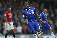 GOAL/CELE  : Ngolo Kante of Chelsea celebrates after scoring his sides 4th goal. Premier league match, Chelsea v Manchester Utd at Stamford Bridge in London on Sunday 23rd October 2016.<br /> pic by John Patrick Fletcher, Andrew Orchard sports photography.